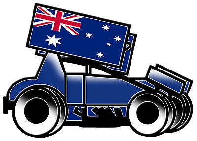SPRINTCAR MY FAMILY DECAL white vinyl SIZE 170MM BY 70MM