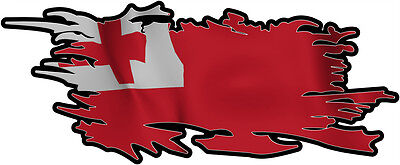 tonga RIPPED FLAG Size apr. 165mm by 70mm