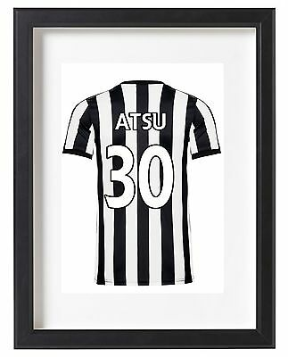 Newcastle United A4 Name Personalised Kit Poster Premier League 2017/18