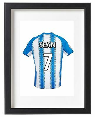 Huddersfield Town A4 Name Personalised Kit Poster Premier League 2017/18