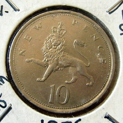 1976 Great Britain 10 New Pence Coin