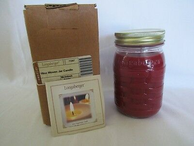 Longaberger Woven Candle Jar 16oz. - McIntosh Apple #71257 in box
