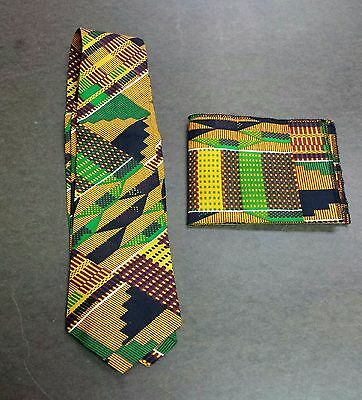 African Kente 2Pc. Tie Set/ 100% Cotton/ Free Shipping