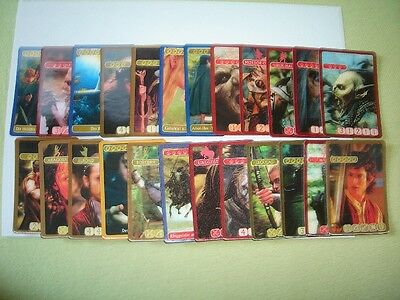 Kellogg's Lord Of The Rings 1 24 3D Hologram Trading Cards Set Lotr Collectibles