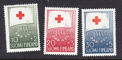 Finland Red Cross 1957 set 579/81 Mint Never Hinged
