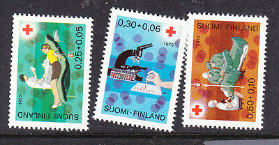 Finland Red Cross 1972 set 820/22   Mint  Never Hinged