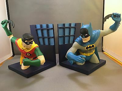 1999 Warner Bros Batman And Robin Bookends Book Ends