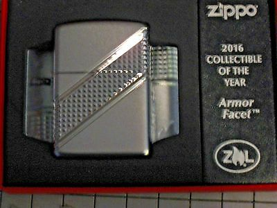 New USA ZIPPO Lighter WP 2016 Collectible of the Year Armor Facet Limited Editon