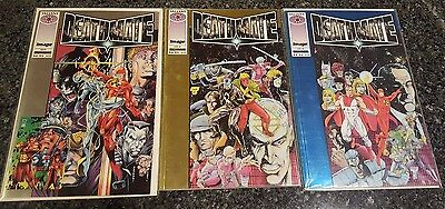 Valiant Comics DeathMate, Prologue, Yellow and Blue Lot of 3 Bagged and Boarded