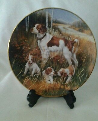 "Brittany Spaniels  8 1/2"" from the Classic Sporting Dogs by Bob Christie,Artist"