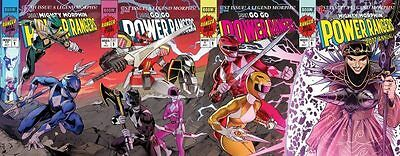 Sdcc 2017 Mighty Morphin Power Rangers #17 Jim Lee Variant Cover Set 4 Boom!