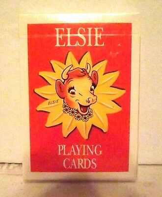 New 1993 Borden Elsie The Cow Playing Cards Cellophane Wrapped Lqqk Nice Nib