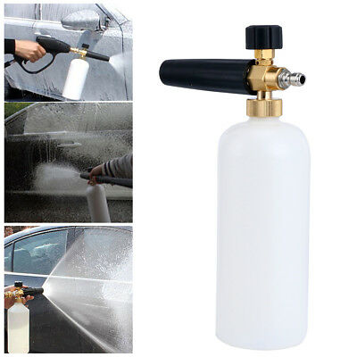"1/4"" Snow Foam Cannon Adjustable Pressure Washer Foam Wash Gun 1L Bottle CA Ship"