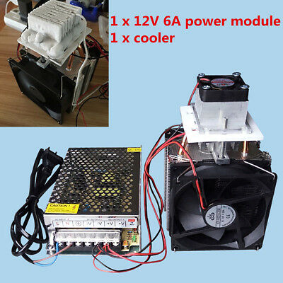 Semiconductor Refrigeration Thermoelectric Peltier Air Cooling With Power supply