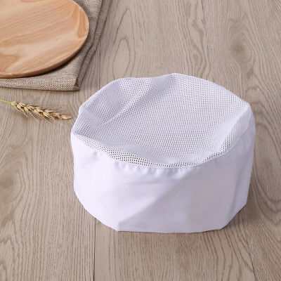 Breathable Mesh Skull Top Chefs Hat with Adjustable Strap for Professional Cook