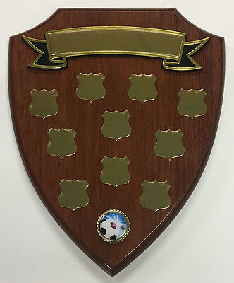Perpetual Timber Shield Trophy Award Plaque 270mm FREE Engraving