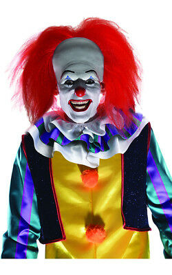 Licensed Pennywise It Scary Clown Red Wig Halloween Costume Accessory