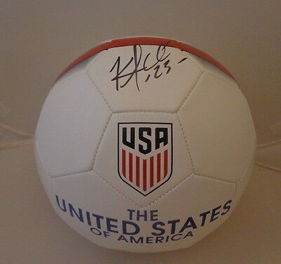 Kellyn Acosta signed Team USA Soccer Ball autographed Proof FC Dallas