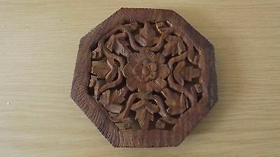 Carved Wooden Pot Stand,