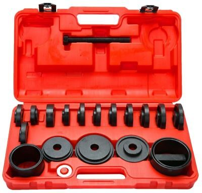 21PC FWD Front Wheel Drive Bearing Removal Adapter Puller Pulley Tool Kit /W Cas