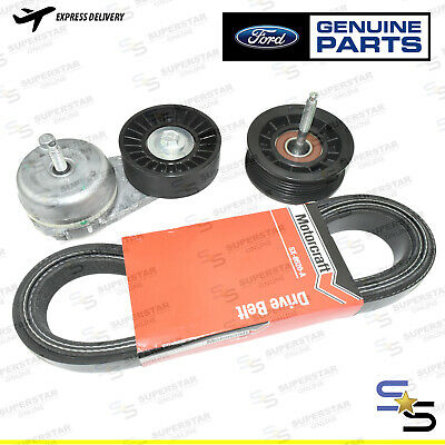 Genuine Ford Territory Sx Sy Sz 6Cyl Drive Belt Idler Pulley Tensioner Kit
