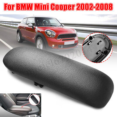 Center Box Console Leather Armrest Cover Lid For BMW Mini Cooper 2002-2008 Black