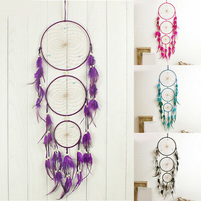 New Home Car Dream Catcher Circular Feather Wall Hanging Accessories Gift