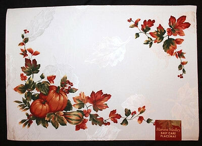 Bardwil Table Linens, Harvest Medley Placemat Rectangle 13 x 19 NEW $14