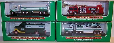 Hess Miniature Toy Truck Set 17 Pieces 1998 - 2014