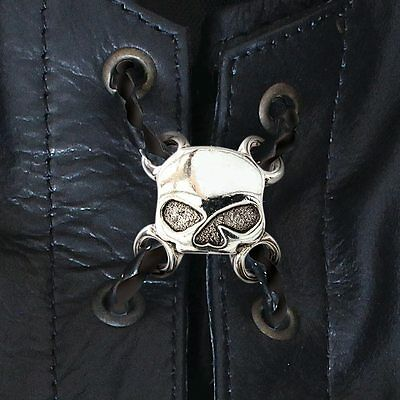 New Biker Motorcycle X 6 Vest Lace Charms Extenders Moto Skull  Stainless Steel
