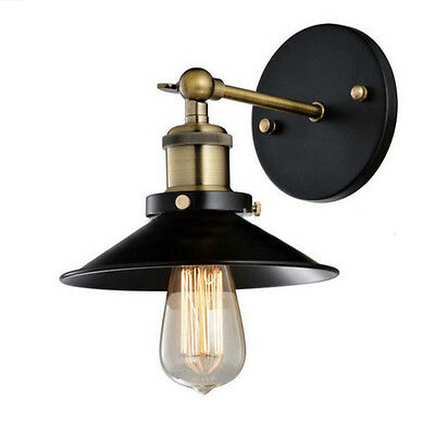 Modern Metal Vintage Loft Adjustable Brass Sconce Wall Light Retro Home Lamp New