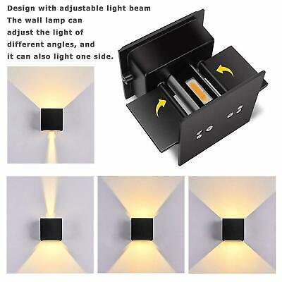 12W 2LED Wall Lights Outdoor/Indoor Sconce Lamp Up/Down Adjustable Dimmable IP65