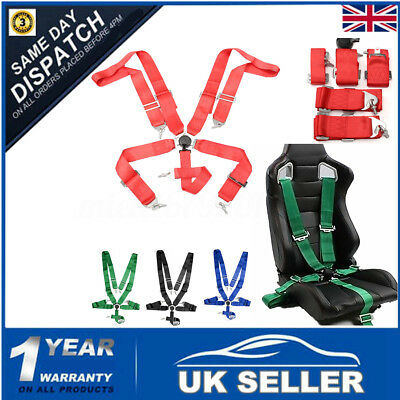 Sport Racing Harness Seat Belt Seatbelt 3'' Strap 5 Point Fixing Quick Release