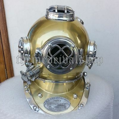 "Morse US Navy Mark V Diving Divers Helmet Solid Steel Full Size 18"" Gift DVS028"