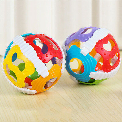 6 Color Gripping Ball Rattle Educational Gift Baby Infant Kids Development Toys