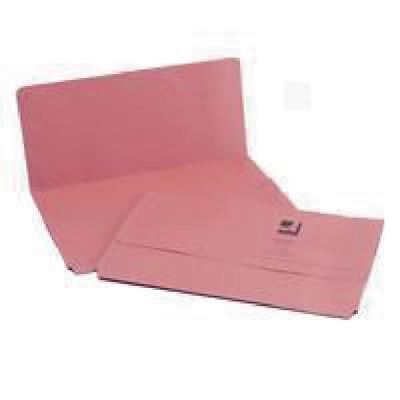 Q-Connect Foolscap Pink Document Wallet Pack of 50 KF23015 [KF23015]