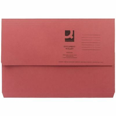 Q-Connect Foolscap Red Document Wallet Pack of 50 KF23016 [KF23016]