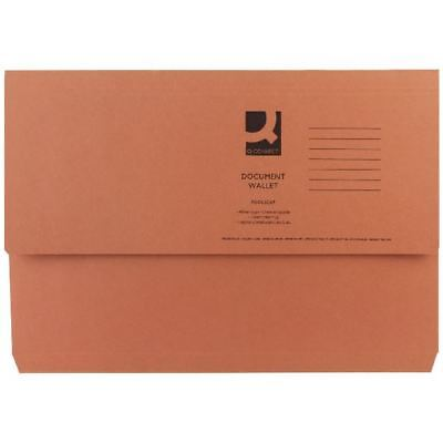 Q-Connect Foolscap Orange Document Wallet Pack of 50 KF23014 [KF23014]