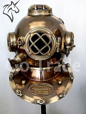 "Morse US Navy Mark V Diving Divers Helmet Solid Steel Full Size 18"" Gift DVS043"