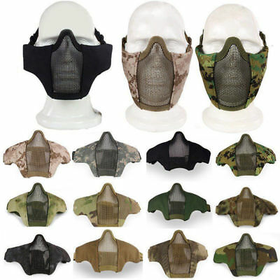 Tactical Hunting Half Face Protective Mesh Mask for Airsoft Paintball