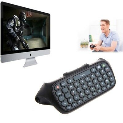 Black Wireless Messenger Text Keyboard Keypad For Xbox 360 Game Controller
