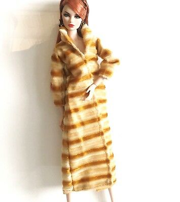 Long Coat For Barbie Dolls, Poppy Parker, Fashion Royalty Fashion Doll Clothes