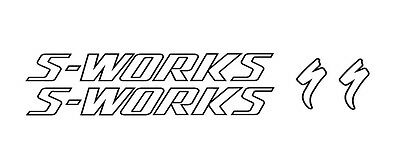 Custom Specialized S-WORKS Outline style vinyl sticker / decals