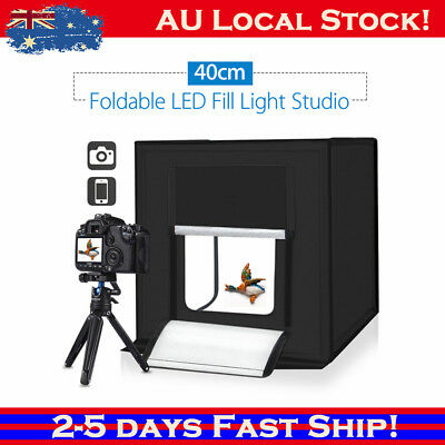 Professional Portable Mini Photo Studio Box Photography Backdrop Built-in Light