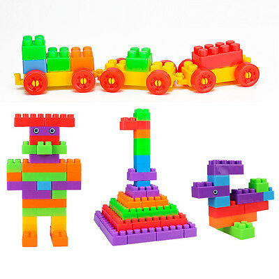 72X ABS Plastic pre-educational Toys Particles Building Block Playset Toy Gifts