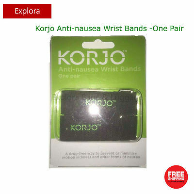 2 Pieces Korjo Anti-Nausea Travel Wrist Bands Sea Plane Car Sickness Wristbands