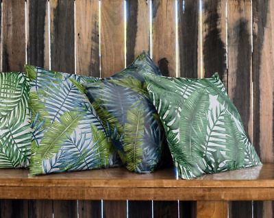 Green Teal Tropical Palm Leaf Cushion Summer Indoor / Outdoor 10 Styles Pillow