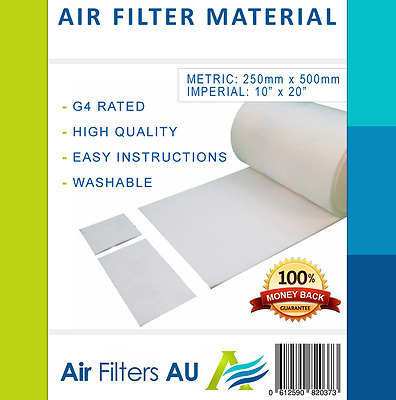 Return Air Filter Material Media Replacement G4 Ducted Air Conditioning Con AC