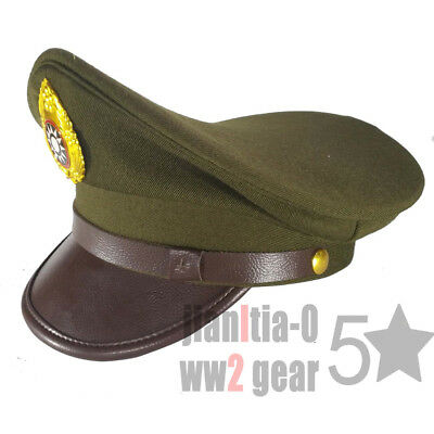 WW2 WWII CHINA MILITARY KMT FORCE OFFICER VISOR Hat FIELD SERVICE CAP