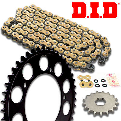 DID VX Motorcycle Gold X-Ring Chain and Sprocket Kit Set 520.16/2014.47/525.118